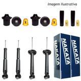 Kit suspensão completo nakata gm corsa novo hatch 2002/2012 - Kit - 4 amortecedores + kits (nakata)
