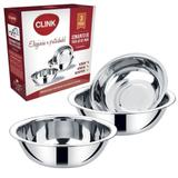 Kit Tigelas 3 unidades Inox Conjunto - Clink