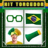 Kit Torcedor Básico Homem 4 itens Brasil Modelo 2 - Festabox
