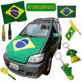 Kit Torcedor Brasil Olimpiada para Carro 14 Itens - Commerce brasil