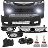 Kit Transformação New Civic 2009 a 2011 com Par Super LED 3D Headlight H11 6000K 9000LM Efeito Xênon - Kit prime
