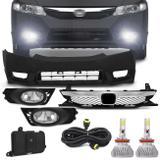 Kit Transformação New Civic 2009 a 2011 com Par Super LED 3D Headlight H11 6000K 9000LM Efeito Xênon - Prime