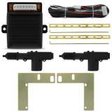 Kit Trava Elétrica Celta 00 a 05 2 Portas Dupla Serventia + Jogo Suportes Aço - Tech one - luferma