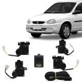 Kit Trava Elétrica Dedicada Corsa Classic Hatch Sedan Wagon 1996 a 2013 4 Portas Mono Serventia - De paula