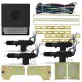 Kit Trava Elétrica Fox 03 a 09 4 Portas Dupla Serventia + Jogo Suportes Aço - Tech one - luferma