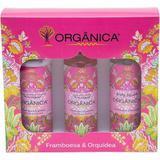 Kit Tri Set Orgânica Framboesa e Orquídea Hidratante + Sabonete Líquido + Body Splash