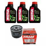 Kit Troca Óleo Motul 5100 15w50 3l + Filtro Ph6114 Bmw 800