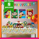 Kit Turma da Mônica 08 Pessoas Econômico - Festabox