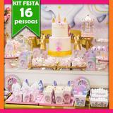 Kit Unicórnio Dourado 16 Pessoas Econômico - Festabox