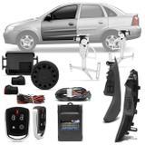 Kit Vidro Elétrico Corsa Hatch Sedan Montana 4 Portas Dianteiras + Alarme Pósitron Cyber PX360BT - Prime