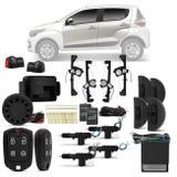 Kit Vidro Elétrico Fiat Mobi 2016 a 2018 Sensorizado 4 Portas + Alarme Pósitron e Trava Elétrica - Prime