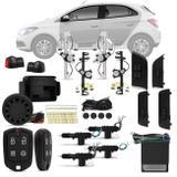Kit Vidro Elétrico Onix Prisma 2012 a 2018 Sensorizado 4 Portas + Alarme Pósitron e Trava Elétrica - Kit segurança