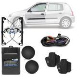 Kit Vidro Elétrico Renault Clio 2000 A 2012 Dianteiro Sensorizado 4 Portas - Dial