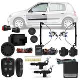 Kit Vidro Elétrico Renault Clio 2000 a 2012 Sensorizado 4 Portas + Alarme Pósitron e Trava Elétrica - Prime