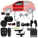 Kit Vidro Elétrico Strada Palio 2004 a 2011 Sensorizado 2 Portas + Alarme Pósitron e Trava Elétrica - Prime