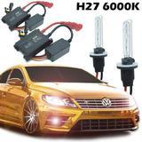 Kit Xenon Automotivo Hid H27 6000K Carro Farol Par Lâmpadas 12V 35W Milha - Conforme estoque disponível