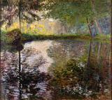 Lago em Montgeron - Claude Monet - Tela 50x56 Para Quadro - Santhatela