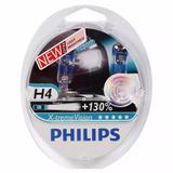 Lampada Philips H4 Xtreme Vision 3500K 55w 130% Mais Luz