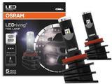 Lâmpada Super Branca Osram LEDriving FOG LAMP H8 H11 H16 6000 K para Farol de Milha Neblina