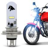 Lâmpada Super LED Honda CG 125 2005 A 2019 H4 8000K 35W Luz Azulada Farol Alto ou Baixo - St