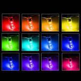 Lâmpadas LED Pingo T10 Controle Remoto 6 LEDS RGB - Multicolor