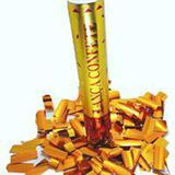 Lança Confete Chuva Dourada Festas Casamentos Aniversários 30 Cm - Brbrinq