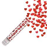 Lança Confete Coração Metalizado 30 cm - Rn embalagens