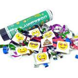 Lança confete emoji zapzap serpentina festa 21cm - Ccdama