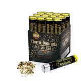 Lança Confetes Chuva Papel Metalizado Ouro 30cm 12 unidades SilverFestas - Festabox