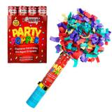 Lança Confetes Coloridos Em Papel Crepom 30 Cm Popper