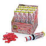 Lança Confetes Granada Explosão de Corações 30cm 12 unidades SilverFestas - Festabox