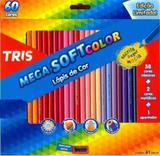 Lapis Cor Tris Mega Soft Color 60 Cores + Apontador