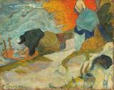 Lavadeiras em Arles - Gauguin  Tela Enorme Para Quadro - Santhatela