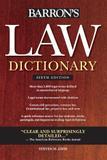 Law Dictionary - Trade Edition - Barrons