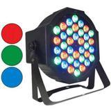 LED PAR Refletor 36 Leds RGBW com DMX Painel Digital Canhão de Luz Slim com Strobo