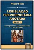Legislacao previdenciaria anotada a lei organica d - Jurua