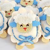 Lembrança Chaveiro Feltro Ovelha Azul - Mais que baby