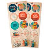 Lembrancinha Adesivos Festa Surf 03 cartelas Junco - Festabox