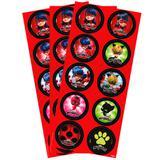 Lembrancinha Adesivos Miraculous Ladybug 03 cartelas Regina Festas - Festabox