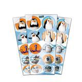 Lembrancinha Adesivos Pinguins de Madagascar 03 cartelas Festcolor