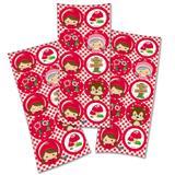Lembrancinha Adesivos Redondo Chapéuzinho Vermelho 03 Cartelas Festcolor - Festabox