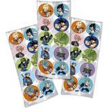 Lembrancinha Adesivos Redondo Dragon Ball Super 03 Cartelas Festcolor - Festabox