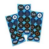 Lembrancinha Adesivos Redondo PlayStation 03 Cartelas Festcolor - Festabox