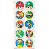 Lembrancinha Adesivos Redondo Super Mario Bros 03 cartelas - Cromus
