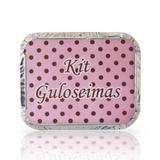Lembrancinha Marmita Kit Guloseima Poá Rosa e Marrom 10 unidades - Festabox