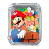 Lembrancinha Marmitinha com Tampa Transparente Super Mario Bros 12 unidades - Cromus