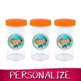 Lembrancinha Personalizada Pote de Acrílico com Tampa Moana 70ml 16 unidades - Festabox