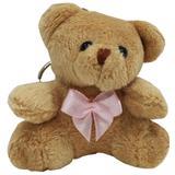 Lembrancinha Ursa Chaveiro - Com Laço Rosa - Nita baby