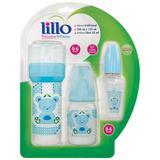 Lillo kit mamadeira primeiros passos 604621 azul c/3und