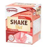 Lipomax Shake Diet Sabor Morango Com 7 Sachês De 58g Cada